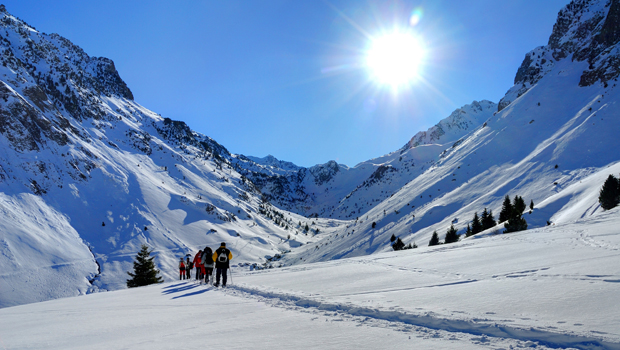 Aficionados al esquí