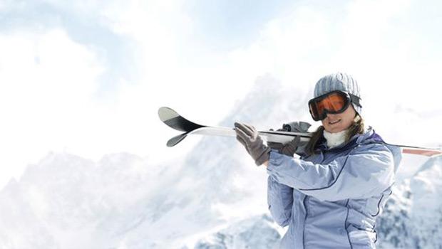 Esquiadora en Baqueira Beret