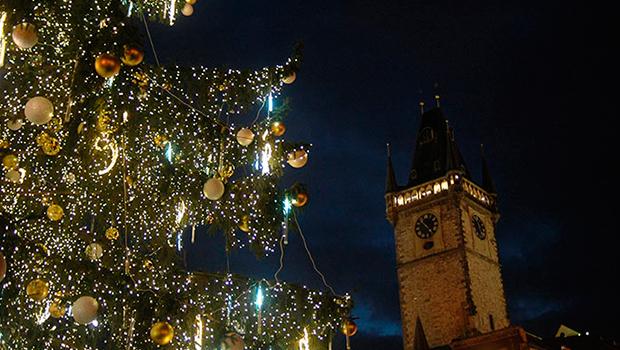 praga plaza navidad