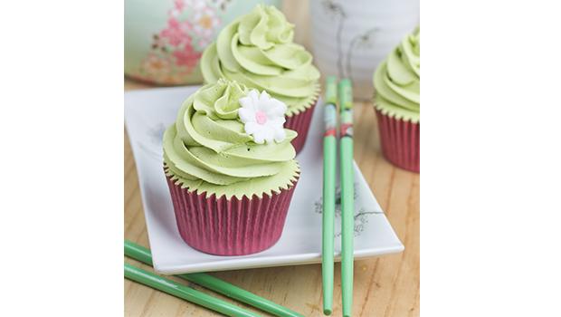cupcake de te verde