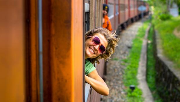 En tren por la India
