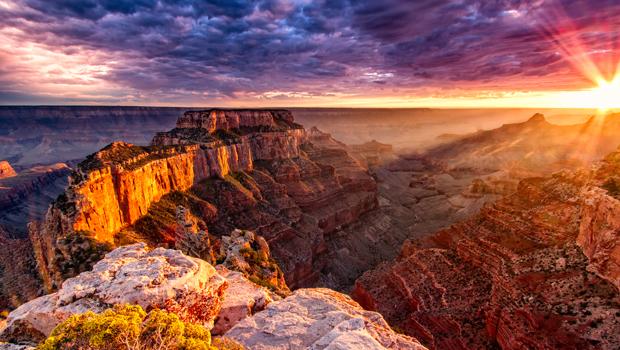 puesta de sol gran cañón