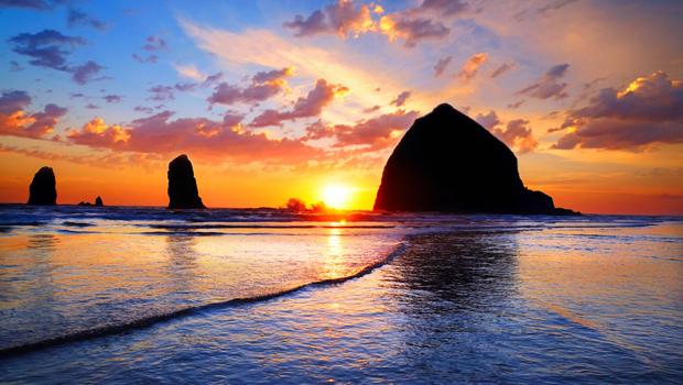 puestas de sol en el Pacífico