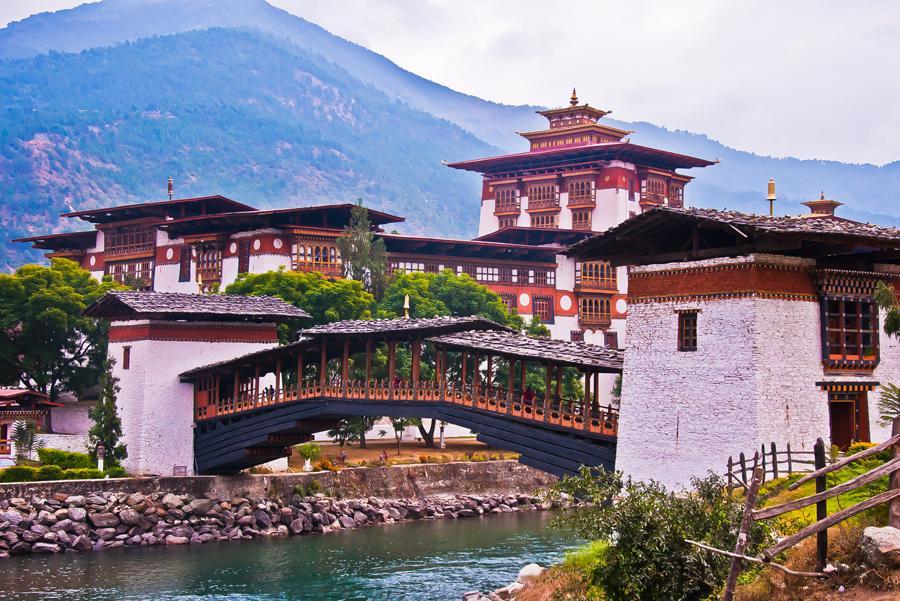 Fortaleza de Punakha.