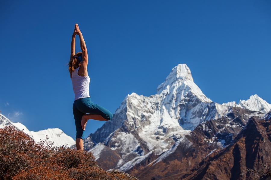 Yoga en el Himalaya.
