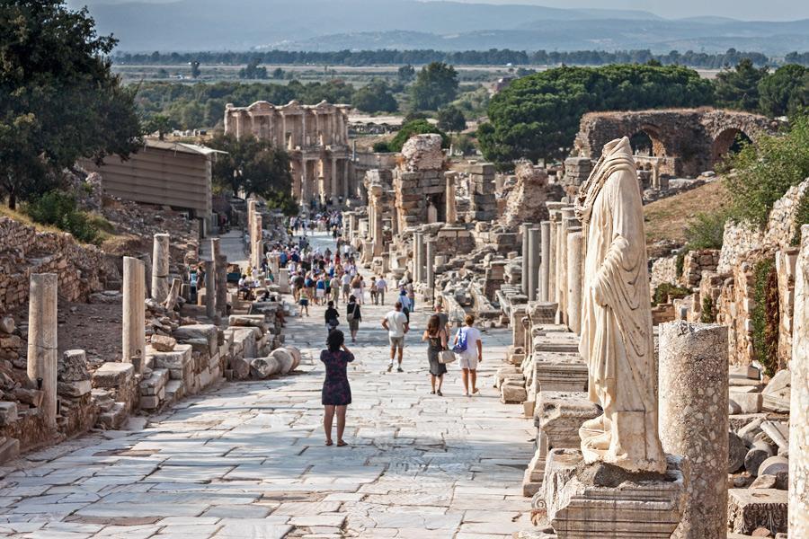 Calles grecorromanas de Éfeso.