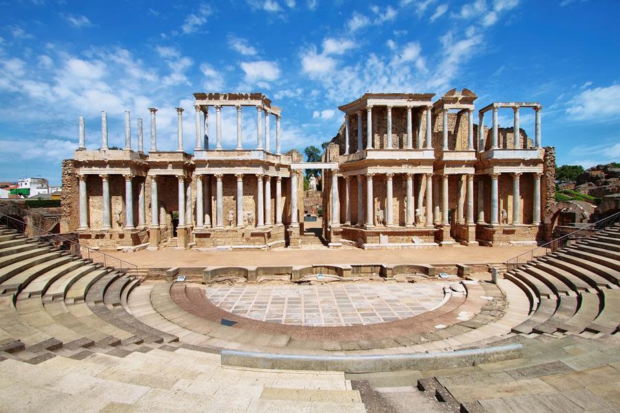 El teatro romano de Mérida.