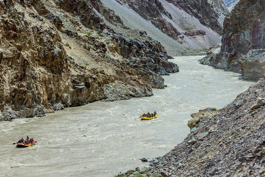 Rafting en el río Zanskar