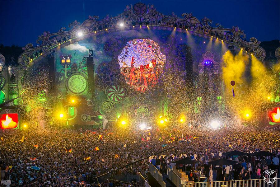 Despliegue del Tomorrowland ©VisitFlanders