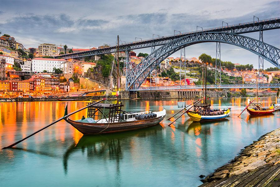Vista del Oporto y su puente Don Luis I.