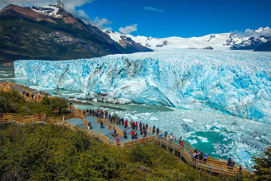 Mirador del glaciar Perito Moreno, Patagonia argentina.