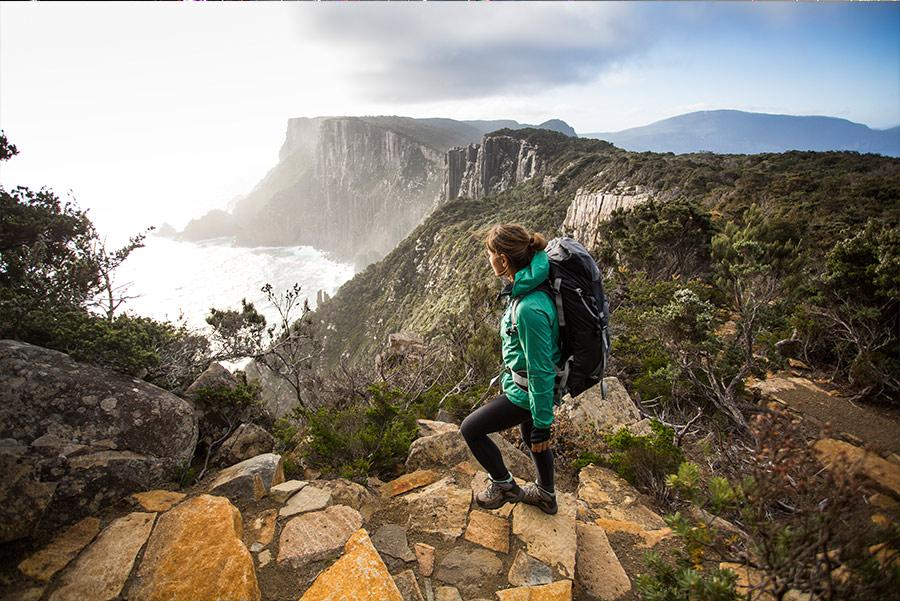 Panorámica de Three Capes Track. Foto: Tasmania Parks and Wildlife Service