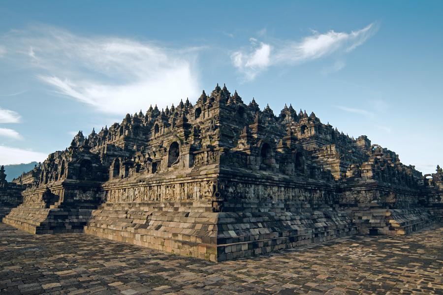 Templo budista de Borobudur, Java.
