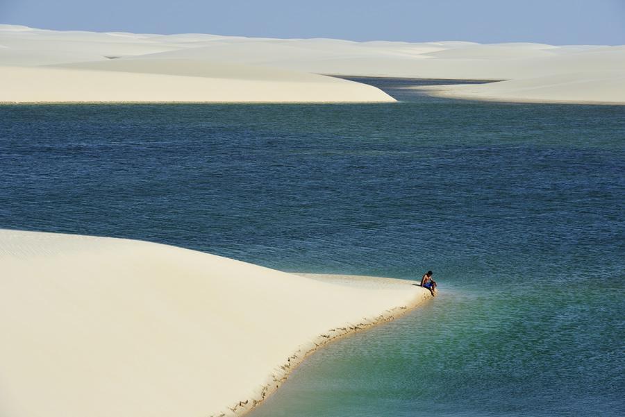 De mayo a octubre, el desierto de Brasil se llena de lagunas