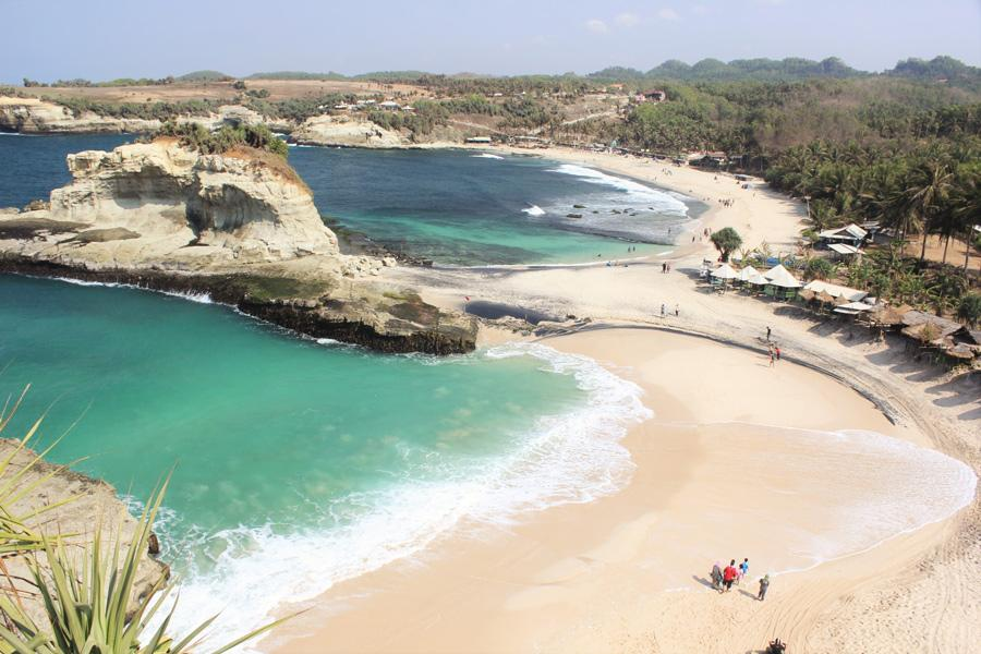 Playa Klayar en Pacitan, East Java.