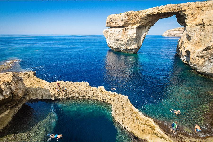La Ventana Azul, en Gozo