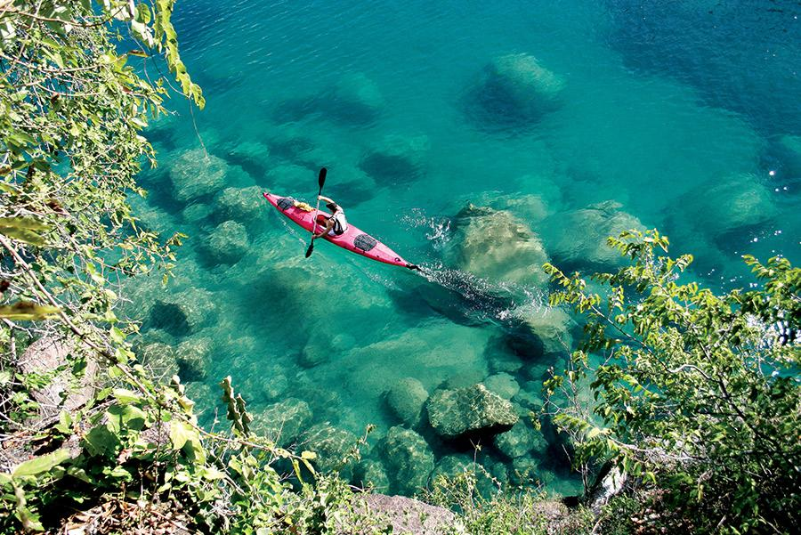 Kayak en el Lago Malawi.