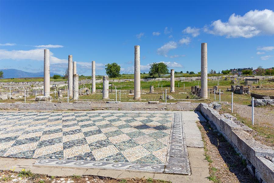 Ruinas de Pella, ciudad natal de Alejandro Magno.