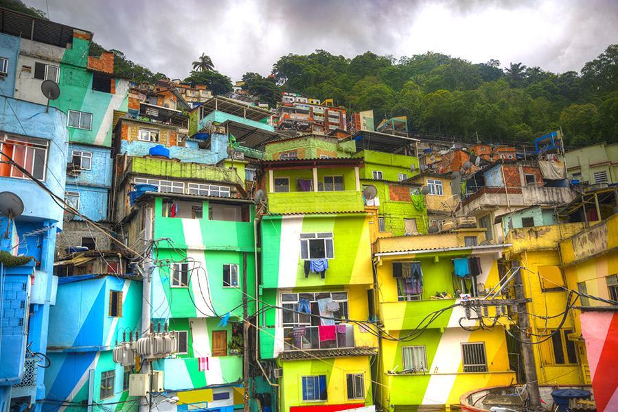Las favelas de Río.