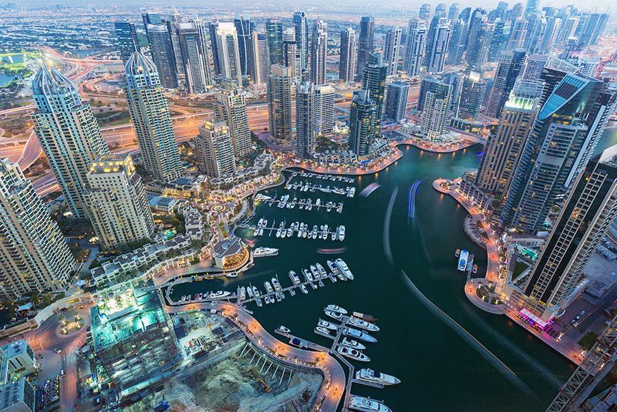 Rascacielos de Dubai.