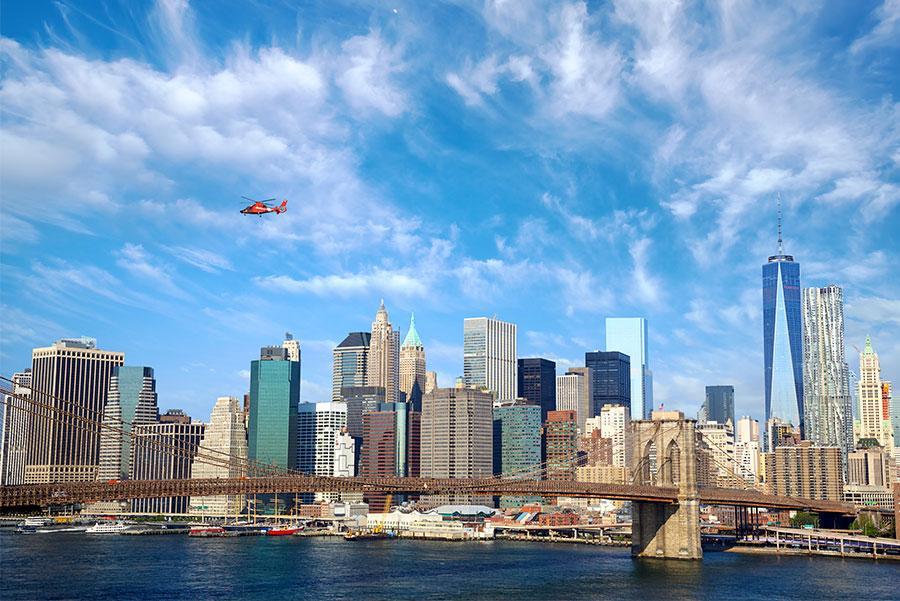 Helicóptero sobre Nueva York.