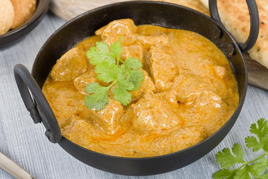 'Curry korma', plato típico de la cocina india.