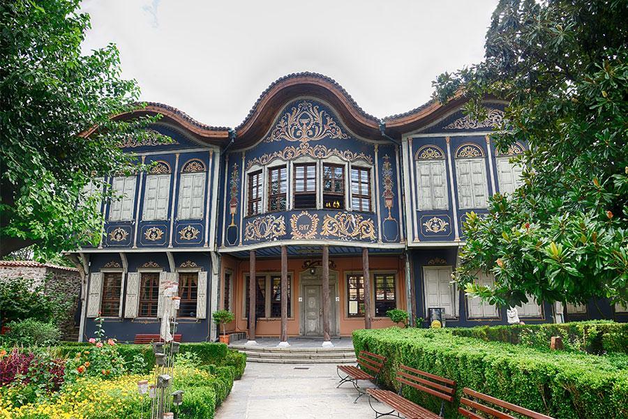 Casco histórico de Plovdiv, Bulgaria.