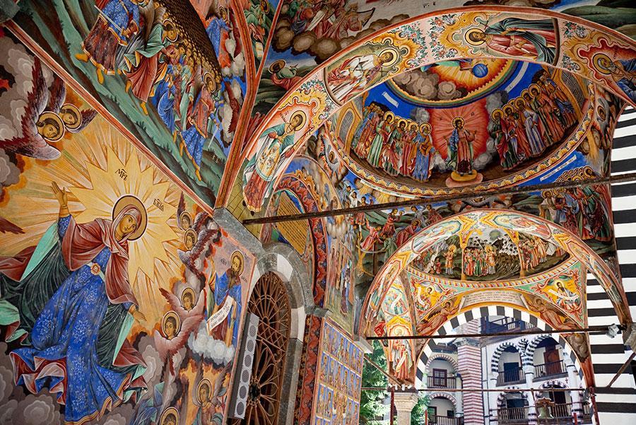 Frescos del Monasterio de Rila.