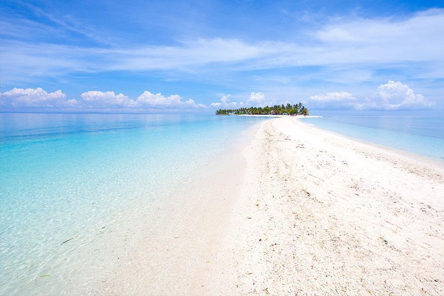 La playa de Kalanggaman Island.
