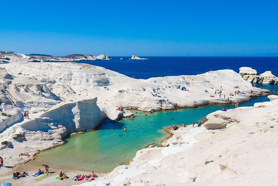 Playa de Sarakiniko en Milos.