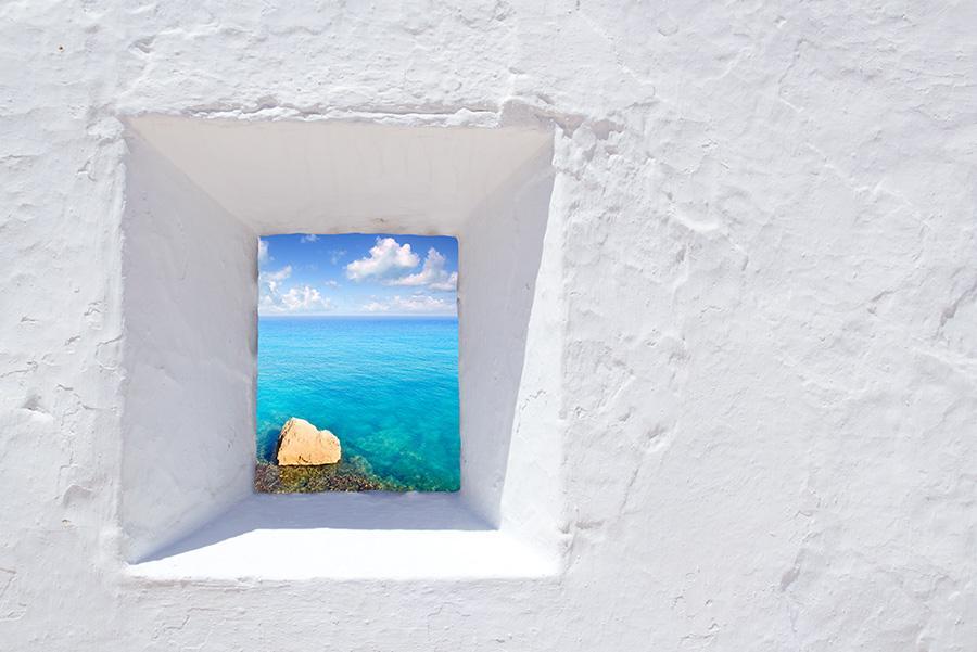 El Mediterráneo desde una casa de Formentera