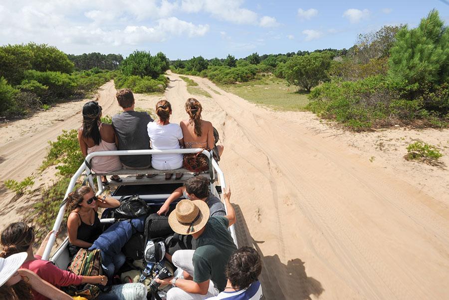 Turistas accediendo en todoterreno a Cabo Polonio. Foto: Stefano Ember / Shutterstock.com