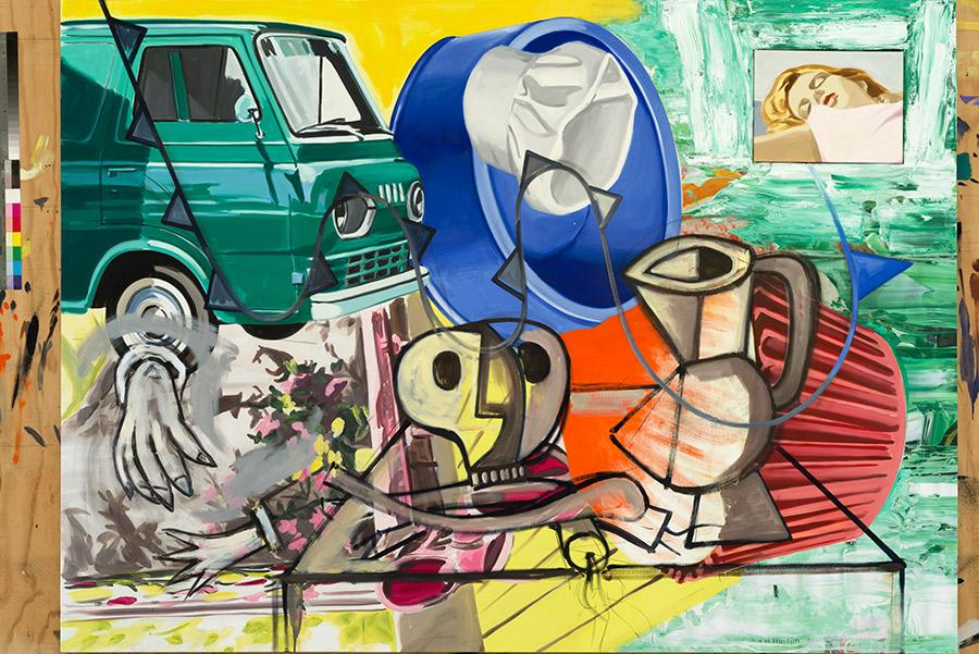 This is the Fun' (2014-15) © David Salle Licensed by Vaga. En el CAC Málaga. John Berens