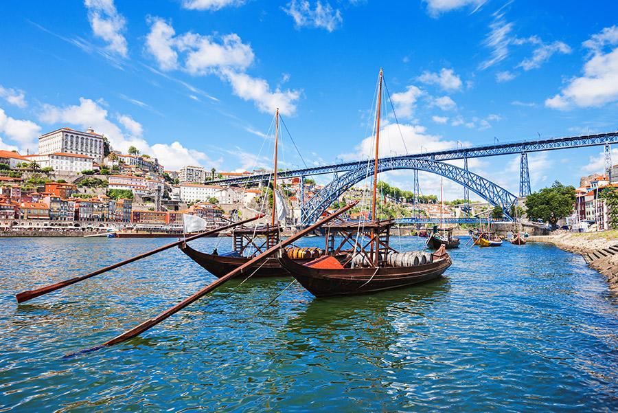 Rabelos, clásica embarcación portuguesa del Douro.