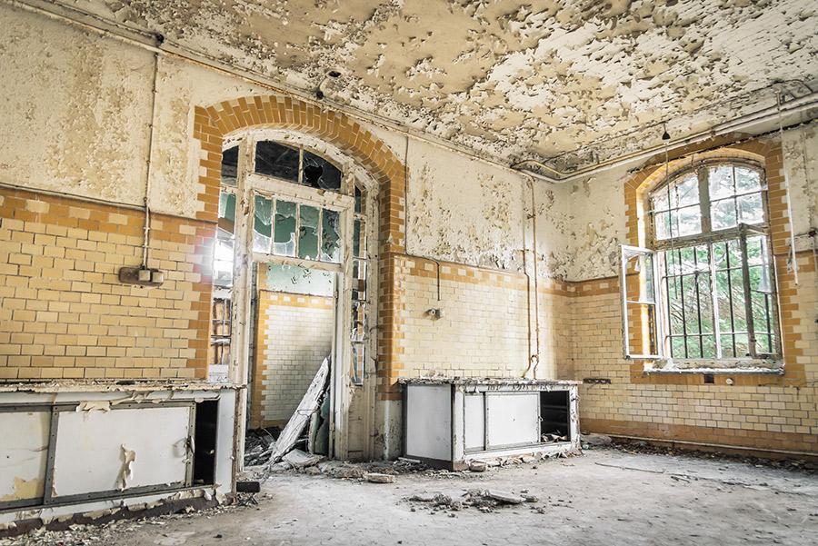 Hospital abandonado de Beelitz-Heilstaetten.