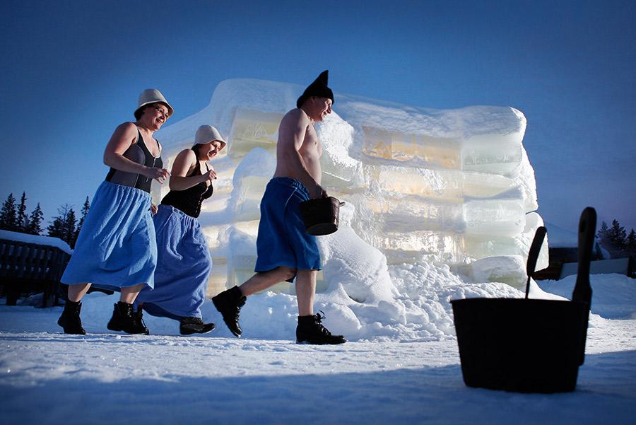 Sauna de hielo. Visit Finland
