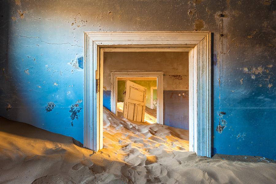 La ciudad fantasma de Kolmanskop, en Namibia.