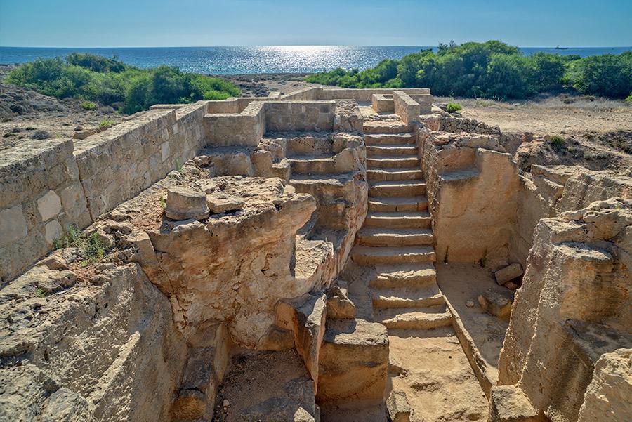Las Tumbas de los reyes en Pafos.