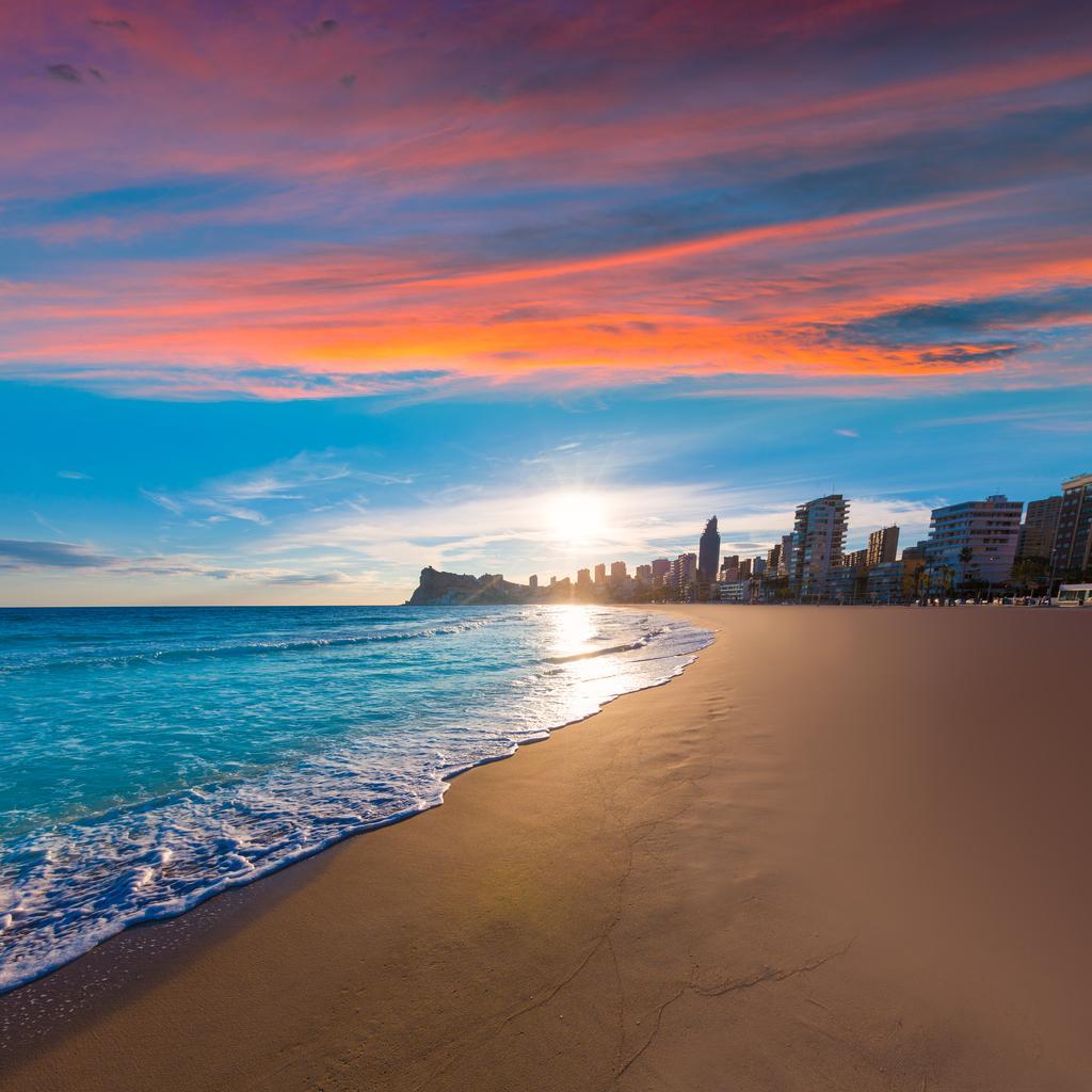 Benidorm, Alicante playa de Poniente