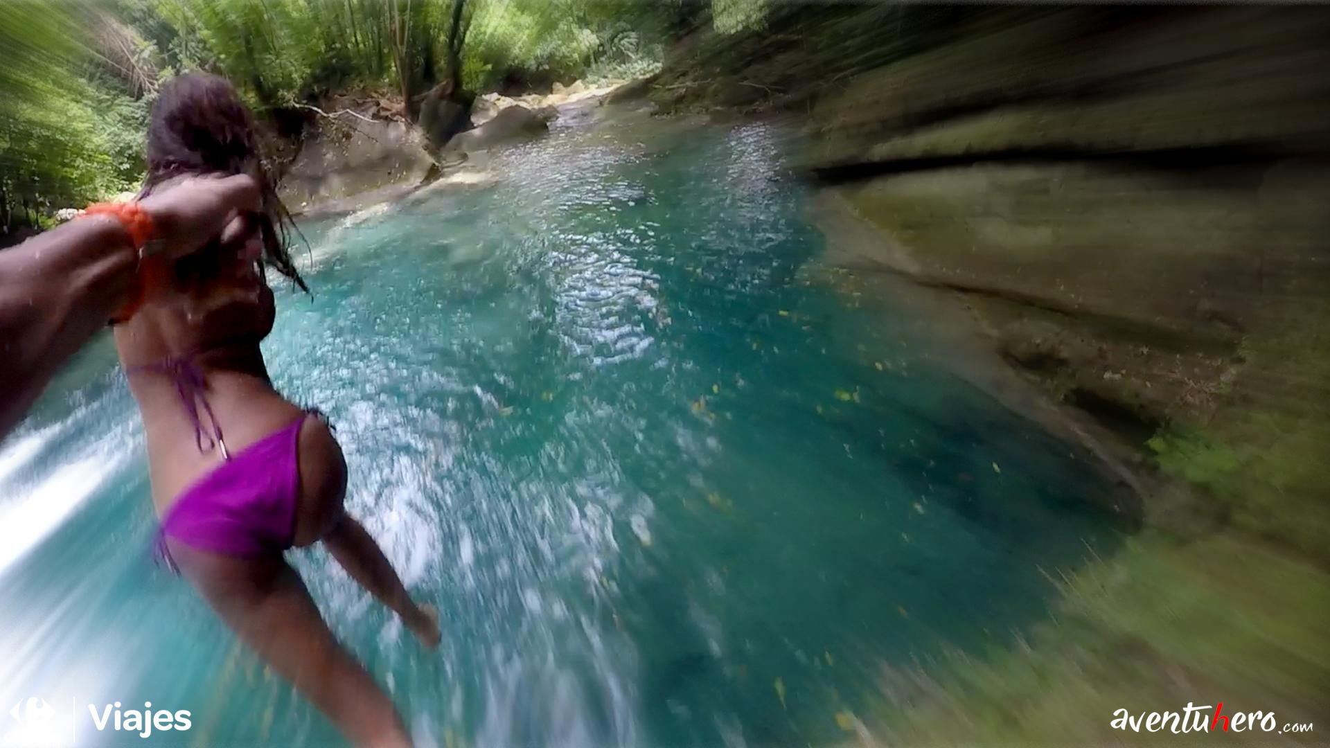 Aventuhero - Allí vamos Natalia! Blue Hole. Jamaica