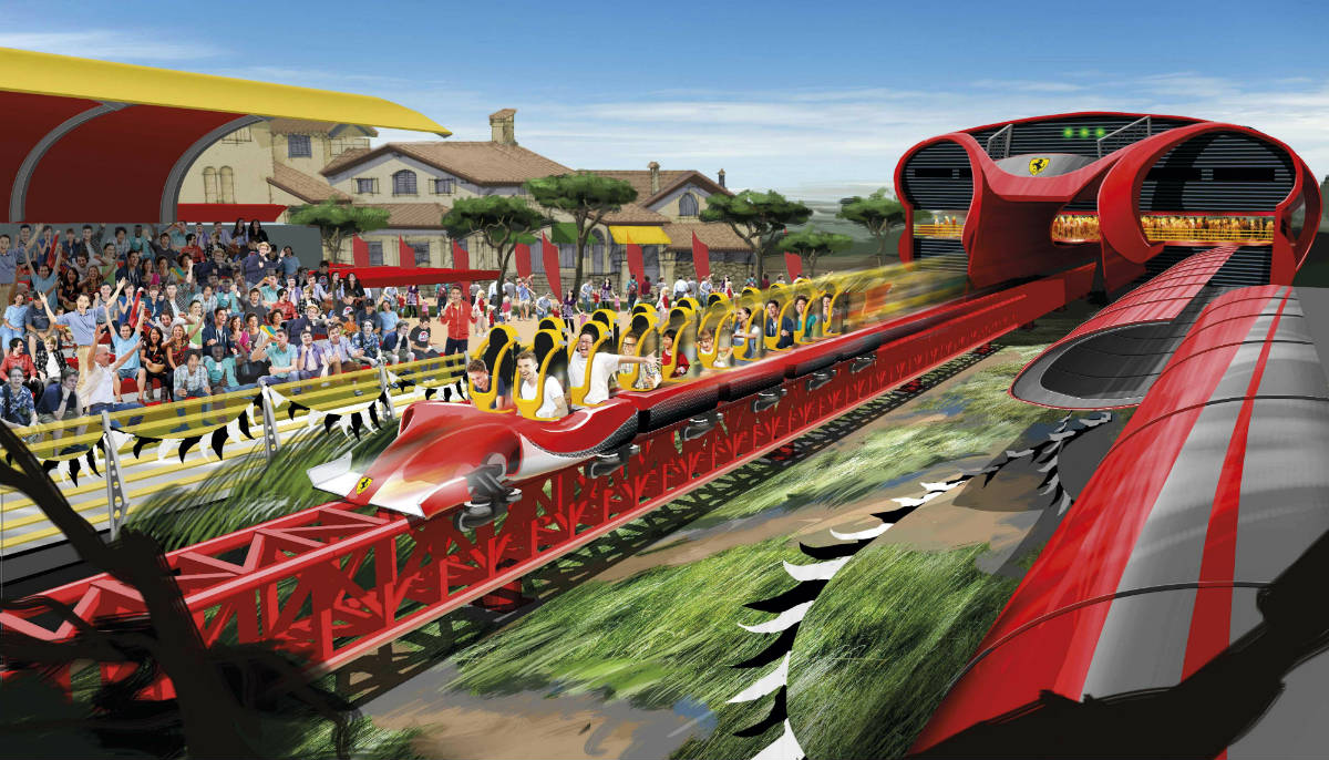 Ferrari Land atracciones