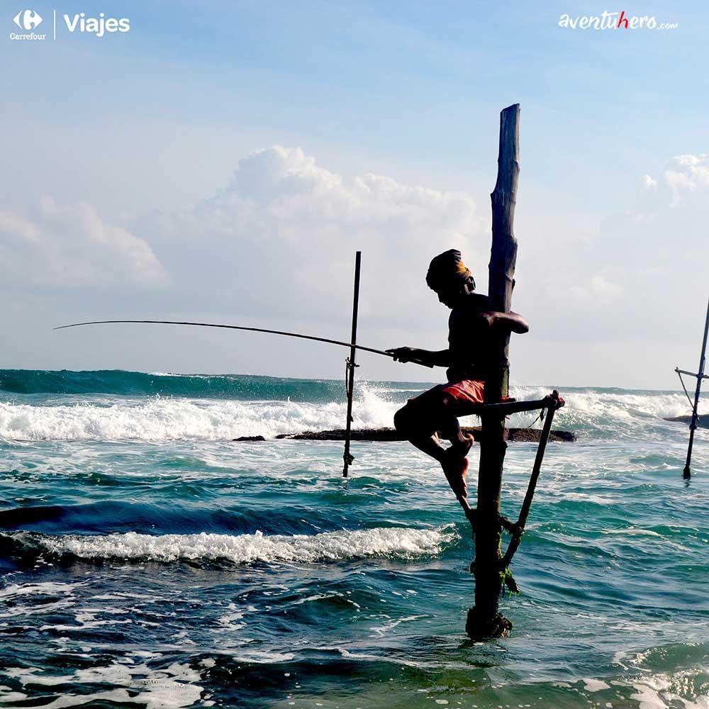 Aventuhero - Pescadores de Sri Lanka de más cerca