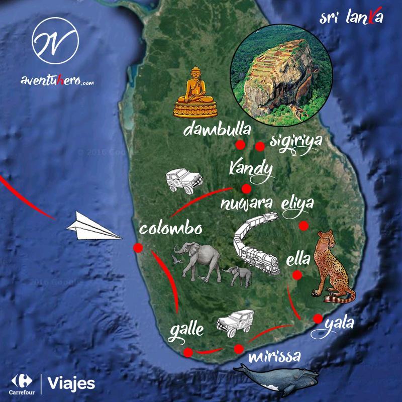 Aventuhero, Sri Lanka - Mapa
