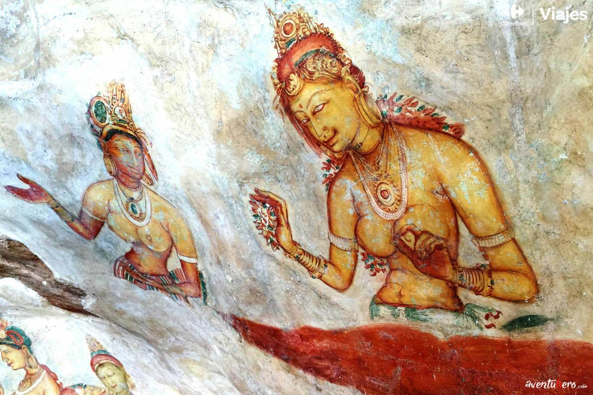 Aventuhero, Sri Lanka - Frescos de Sigiriya
