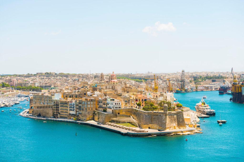 Fortaleza de la ciudad desde la valeta, Malta Senglea
