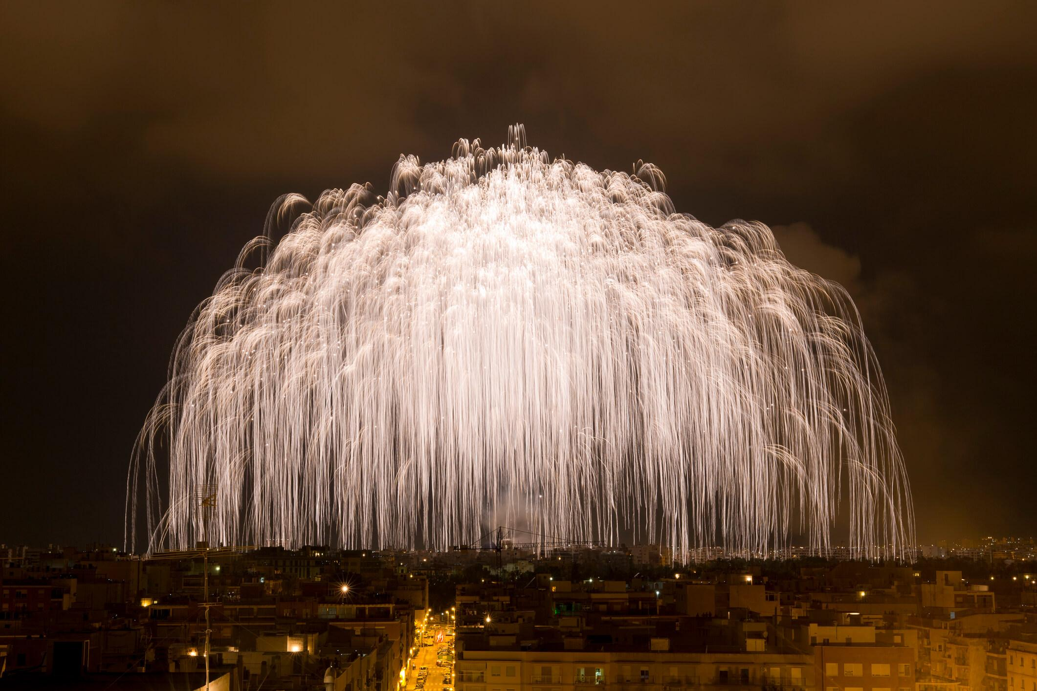 Fuegos Fiesta de San Juan Alborada Elche