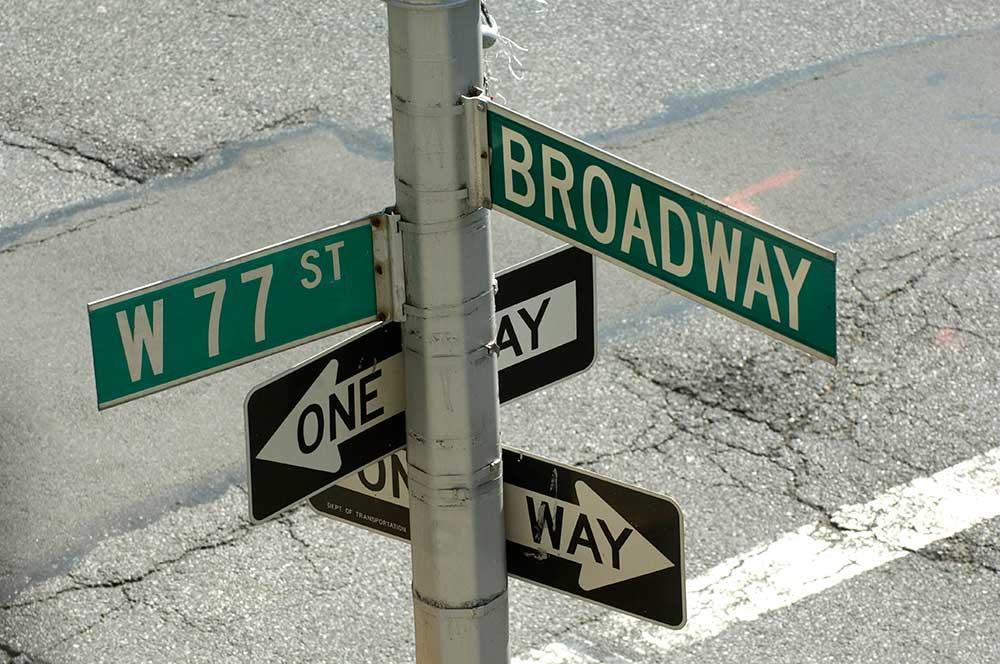 Ruta por Nueva York, Calles