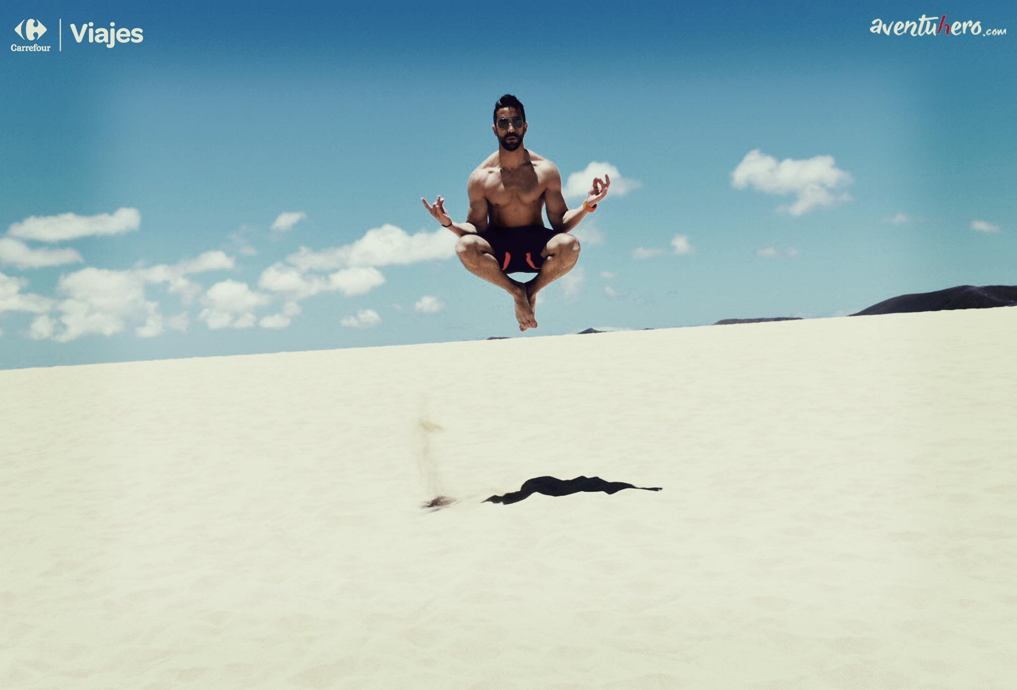 Aventuhero - El buddah en las dunas de El Corralejo