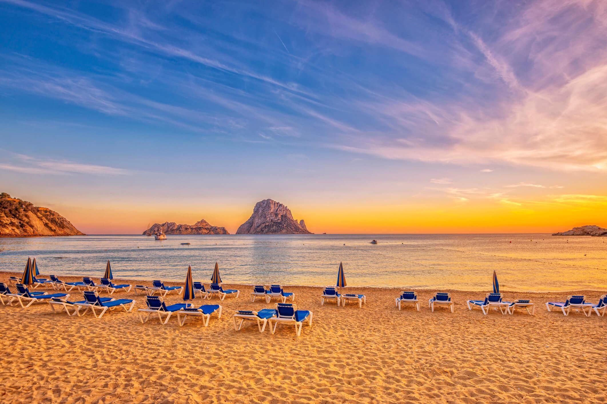 Puesta de sol, Cala d'hort, Ibiza