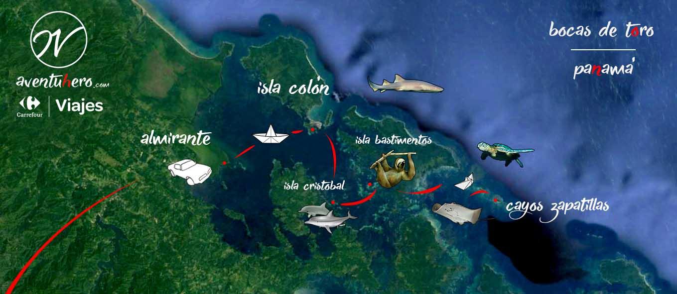 Mapa Bocas de Toro